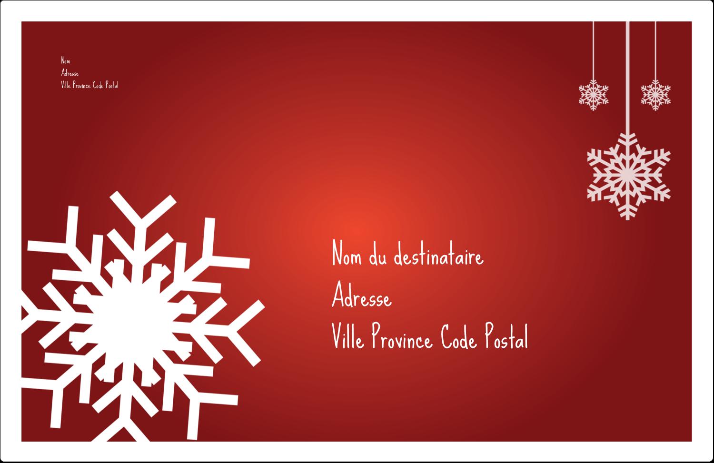 """8½"""" x 5½"""" Étiquettes d'expédition - Les gabarits Flocons de neige en feutre pour votre prochain projet des Fêtes"""
