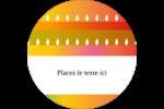 Motif de chandelle Divali Étiquettes Voyantes - gabarit prédéfini. <br/>Utilisez notre logiciel Avery Design & Print Online pour personnaliser facilement la conception.