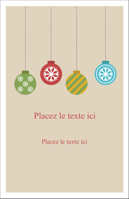 """8½"""" x 11"""" Binder Insert Reliures - Les gabarits Boules décoratives artisanales pour votre prochain projet des Fêtes"""