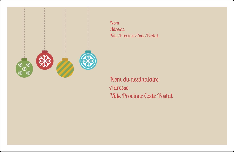 """1½"""" x 4"""" Étiquettes d'adresse - Les gabarits Boules décoratives artisanales pour votre prochain projet des Fêtes"""