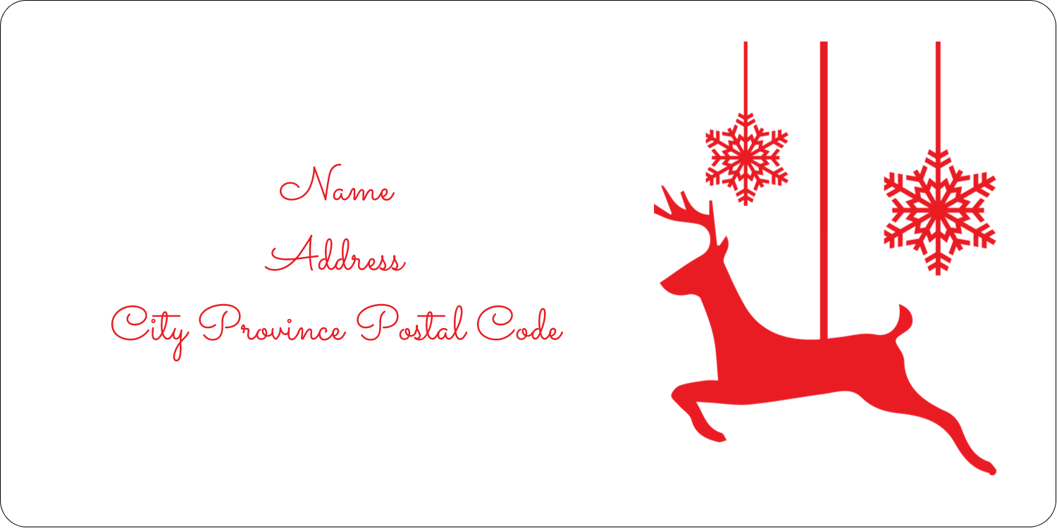 "2"" x 4"" Shipping Label - Deer Decor"