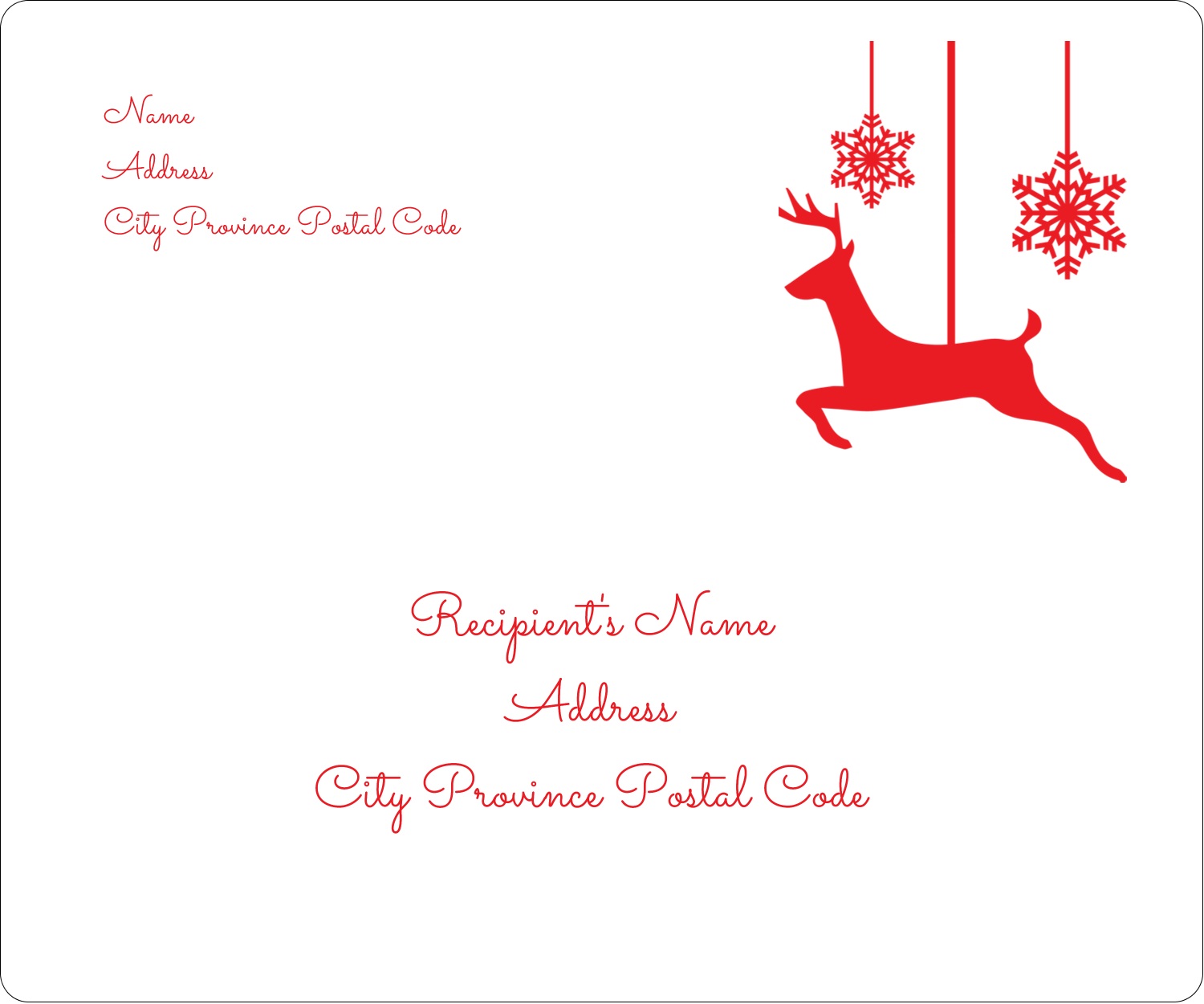 "3⅓"" x 4"" Shipping Label - Deer Decor"