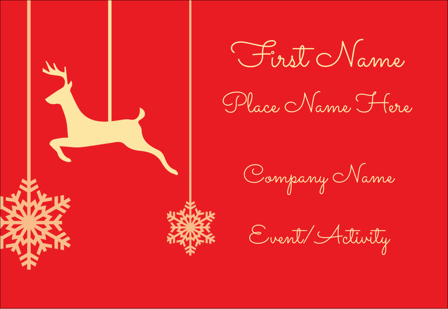 "3⅜"" x 2⅓"" Name Badge - Deer Decor"