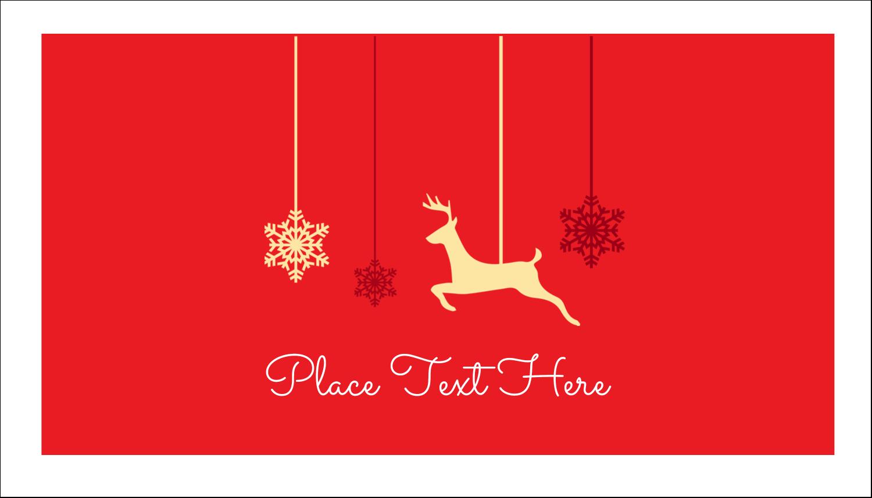 """2"""" x 3½"""" Business Card - Deer Decor"""