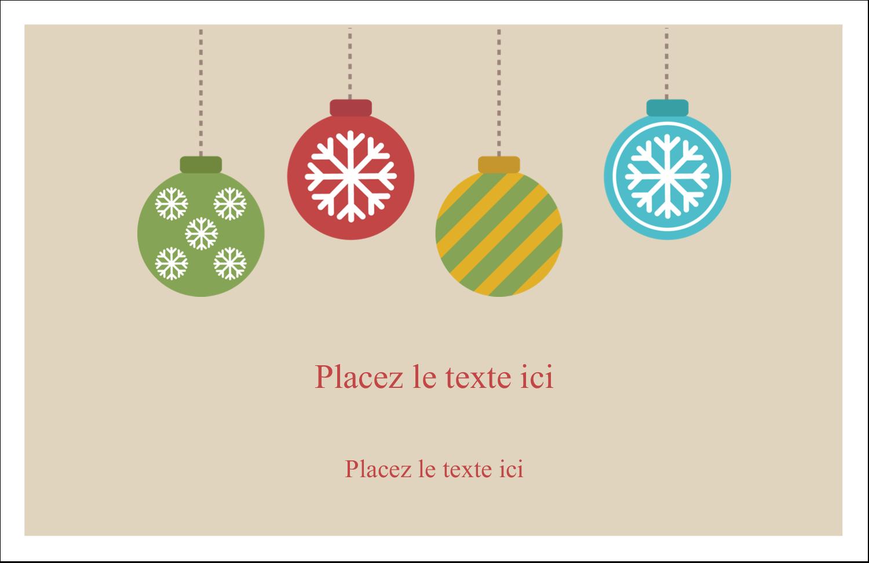 """5½"""" x 8½"""" Cartes de souhaits pliées en deux - Les gabarits Boules décoratives artisanales pour votre prochain projet des Fêtes"""