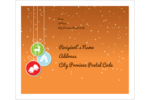 Add delightful holiday cheer to custom projects with pre-designed Hanging Bulbs templates.