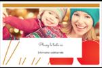 Boules de Noël Cartes de souhaits pliées en deux - gabarit prédéfini. <br/>Utilisez notre logiciel Avery Design & Print Online pour personnaliser facilement la conception.
