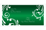 Add vibrant elegance to custom projects with pre-designed Green Swirls templates.