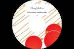Boules de Noël Étiquettes de classement - gabarit prédéfini. <br/>Utilisez notre logiciel Avery Design & Print Online pour personnaliser facilement la conception.