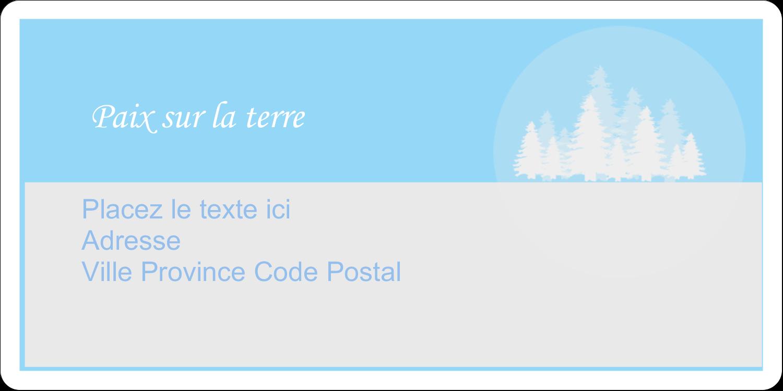 """3-7/16"""" x ⅔"""" Étiquettes de classement écologiques - Forêt bleue"""