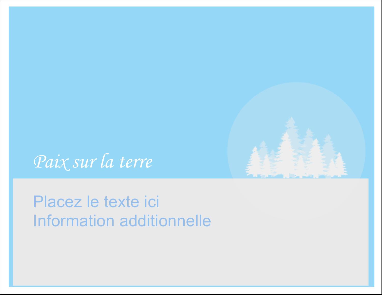 """8½"""" x 11"""" Cartes Et Articles D'Artisanat Imprimables - Forêt bleue"""