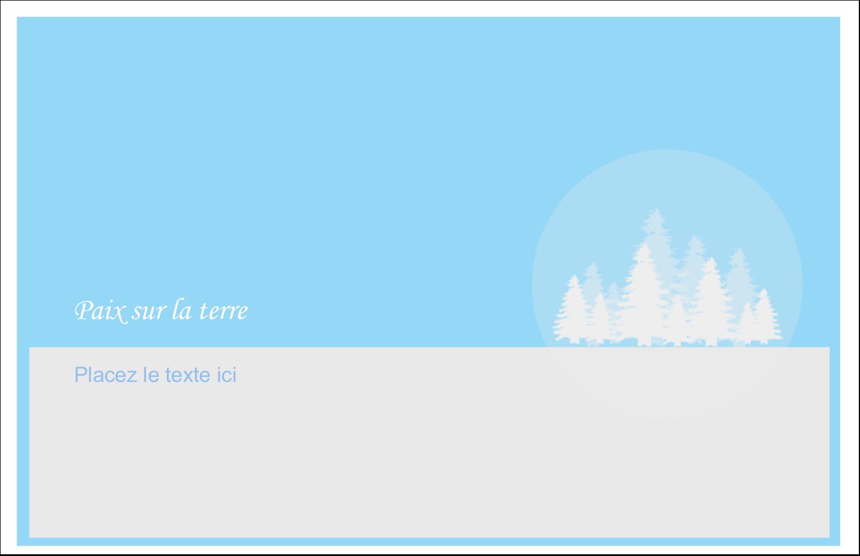 """5½"""" x 8½"""" Cartes de souhaits pliées en deux - Forêt bleue"""