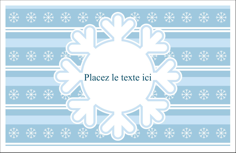 """5½"""" x 8½"""" Cartes de souhaits pliées en deux - Les gabarits Flocon de neige bleu pour votre prochain projet des Fêtes"""