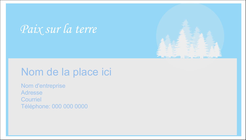 """2"""" x 3½"""" Carte d'affaire - Forêt bleue"""