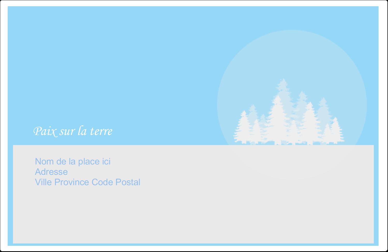 """8½"""" x 5½"""" Étiquettes d'expédition - Forêt bleue"""