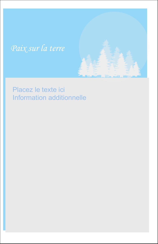 """8½"""" x 5"""" Cartes Et Articles D'Artisanat Imprimables - Forêt bleue"""