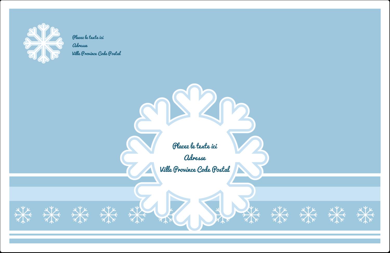 """1½"""" x 4"""" Étiquettes d'adresse - Les gabarits Flocon de neige bleu pour votre prochain projet des Fêtes"""