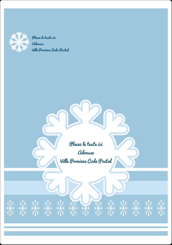 """⅔"""" x 1¾"""" Étiquettes D'Adresse - Les gabarits Flocon de neige bleu pour votre prochain projet des Fêtes"""