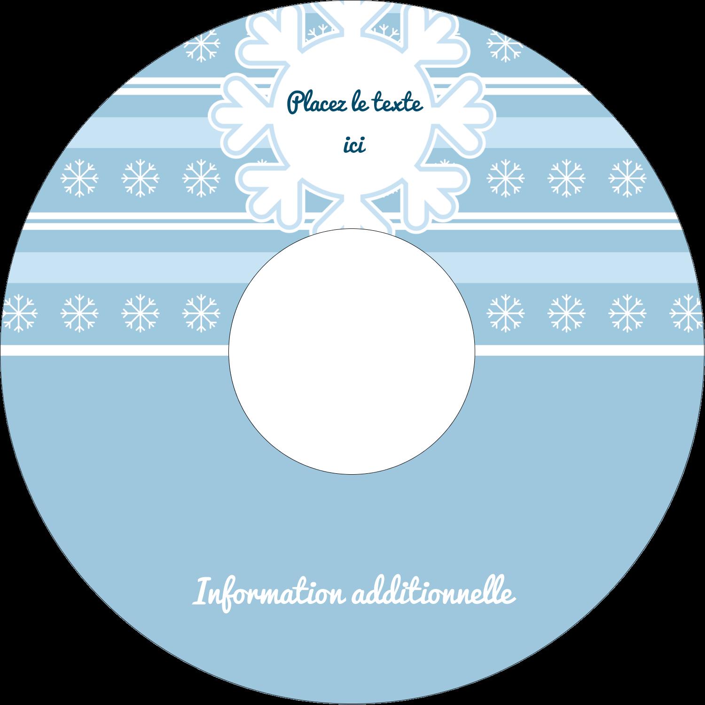 """⅔"""" x 3-7/16"""" Étiquettes de classement - Les gabarits Flocon de neige bleu pour votre prochain projet des Fêtes"""