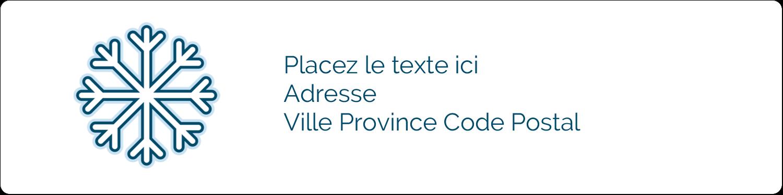 """1"""" x 4"""" Étiquettes d'adresse - Les gabarits Flocon de neige bleu pour votre prochain projet des Fêtes"""