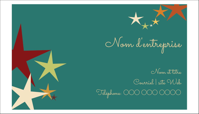 """2"""" x 3½"""" Carte d'affaire - Étoiles du Nouvel An"""