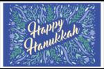 Hanoukka florale Cartes de souhaits pliées en deux - gabarit prédéfini. <br/>Utilisez notre logiciel Avery Design & Print Online pour personnaliser facilement la conception.