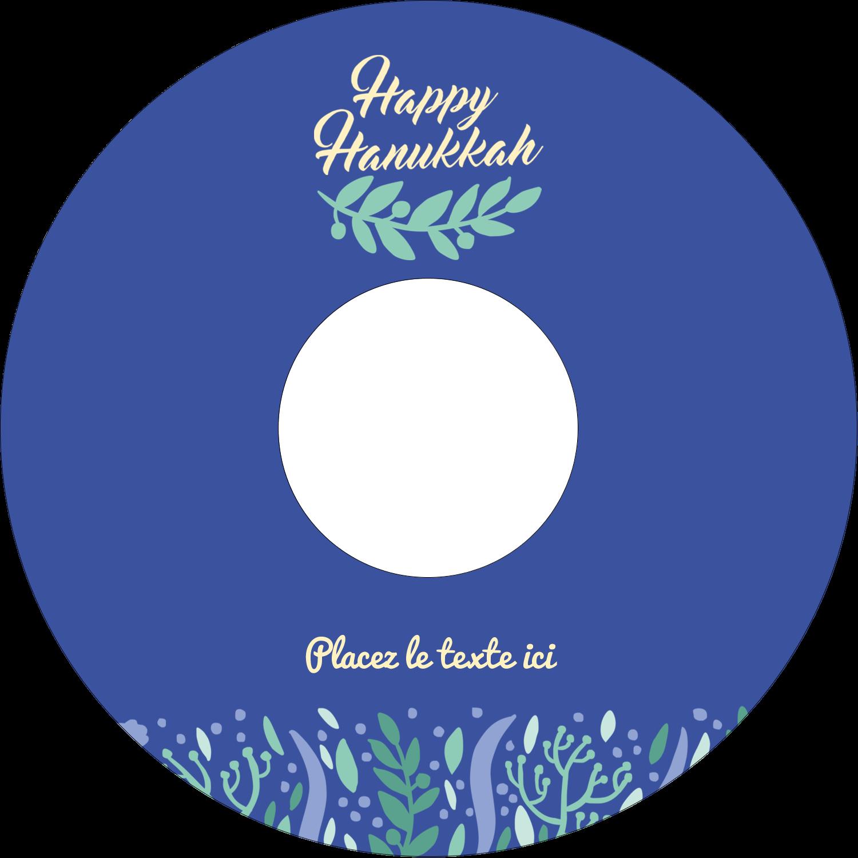 CD/DVD Étiquettes Pour Médias - Hanoukka florale