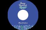 Hanoukka florale Étiquettes Pour Médias - gabarit prédéfini. <br/>Utilisez notre logiciel Avery Design & Print Online pour personnaliser facilement la conception.