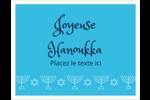 Chandelier de Hanoukka Cartes Et Articles D'Artisanat Imprimables - gabarit prédéfini. <br/>Utilisez notre logiciel Avery Design & Print Online pour personnaliser facilement la conception.