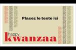 Les gabarits Kwanzaa pour votre prochain projet des Fêtes Carte d'affaire - gabarit prédéfini. <br/>Utilisez notre logiciel Avery Design & Print Online pour personnaliser facilement la conception.