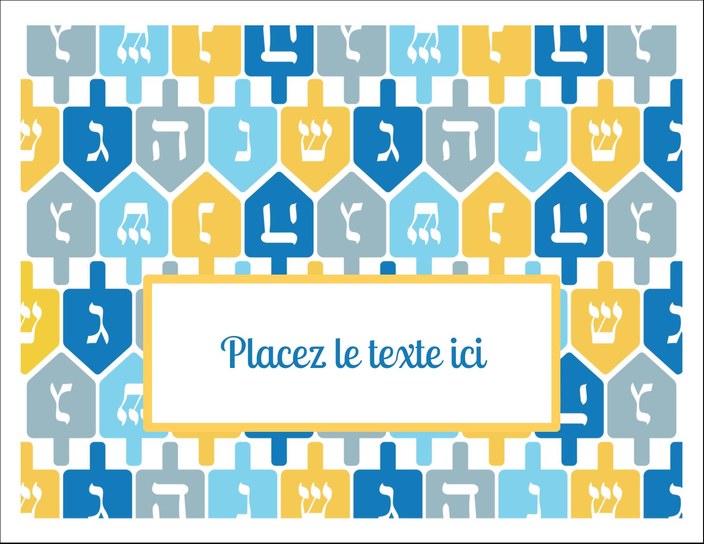 """8½"""" x 11"""" Cartes Et Articles D'Artisanat Imprimables - Toupie de Hanoukka"""