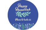 Hanoukka florale Étiquettes Voyantes - gabarit prédéfini. <br/>Utilisez notre logiciel Avery Design & Print Online pour personnaliser facilement la conception.