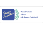 Hanoukka florale Étiquettes d'adresse - gabarit prédéfini. <br/>Utilisez notre logiciel Avery Design & Print Online pour personnaliser facilement la conception.