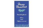 Hanoukka florale Carte d'affaire - gabarit prédéfini. <br/>Utilisez notre logiciel Avery Design & Print Online pour personnaliser facilement la conception.