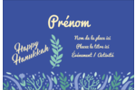 Hanoukka florale Étiquettes à codage couleur - gabarit prédéfini. <br/>Utilisez notre logiciel Avery Design & Print Online pour personnaliser facilement la conception.
