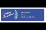 Hanoukka florale Intercalaires / Onglets - gabarit prédéfini. <br/>Utilisez notre logiciel Avery Design & Print Online pour personnaliser facilement la conception.