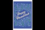 Hanoukka florale Cartes Et Articles D'Artisanat Imprimables - gabarit prédéfini. <br/>Utilisez notre logiciel Avery Design & Print Online pour personnaliser facilement la conception.