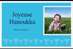 Chandelier de Hanoukka Cartes de souhaits pliées en deux - gabarit prédéfini. <br/>Utilisez notre logiciel Avery Design & Print Online pour personnaliser facilement la conception.