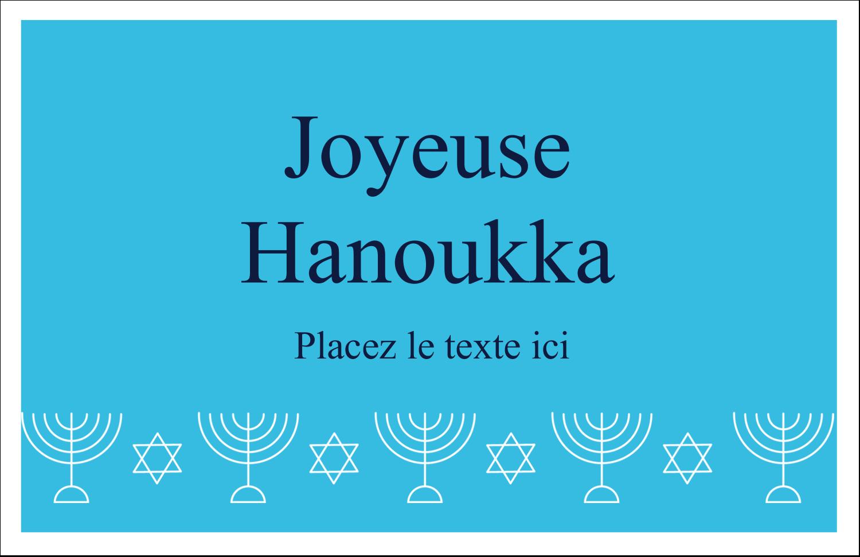 """5½"""" x 8½"""" Cartes de souhaits pliées en deux - Chandelier de Hanoukka"""