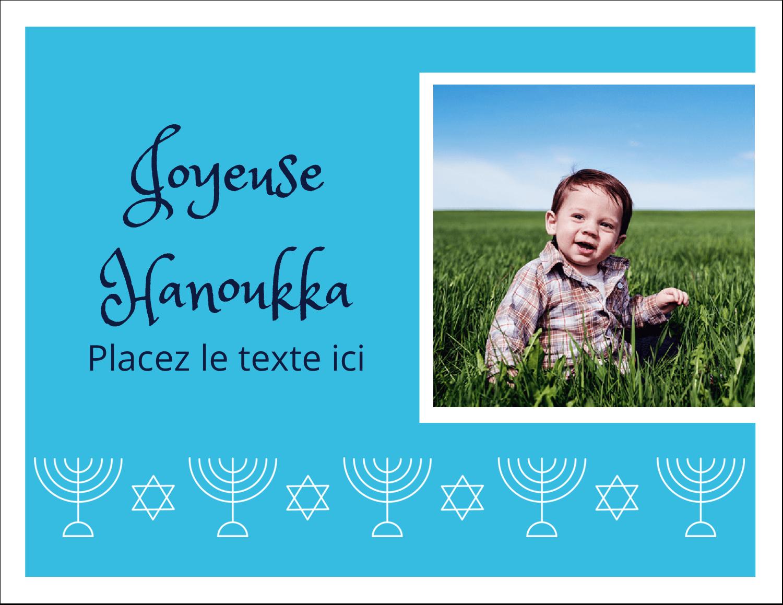 """8½"""" x 11"""" Cartes Et Articles D'Artisanat Imprimables - Chandelier de Hanoukka"""