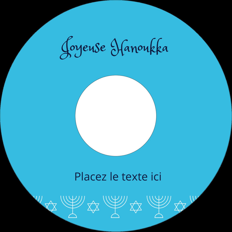 CD/DVD Étiquettes Pour Médias - Chandelier de Hanoukka