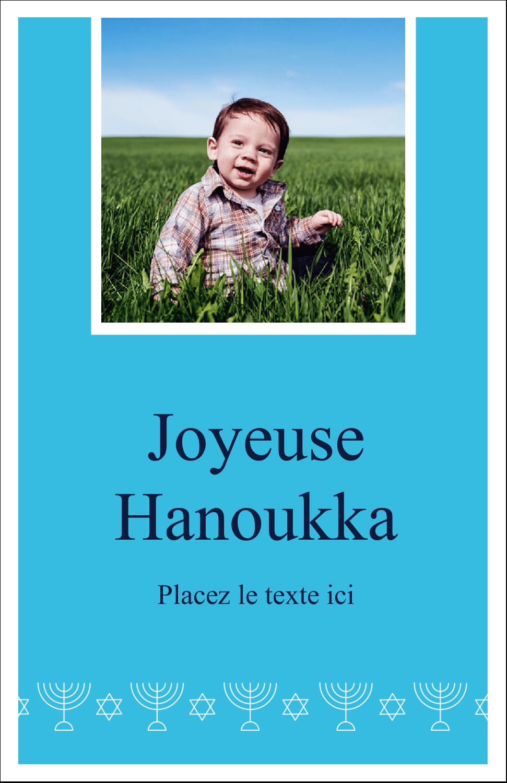 """8½"""" x 11"""" Binder Insert Reliures - Chandelier de Hanoukka"""