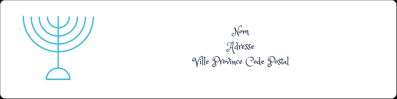 Chandelier de Hanoukka Étiquettes d'adresse - gabarit prédéfini. <br/>Utilisez notre logiciel Avery Design & Print Online pour personnaliser facilement la conception.
