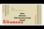 Les gabarits Kwanzaa pour votre prochain projet des Fêtes Étiquettes de classement écologiques - gabarit prédéfini. <br/>Utilisez notre logiciel Avery Design & Print Online pour personnaliser facilement la conception.