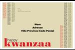 Les gabarits Kwanzaa pour votre prochain projet des Fêtes Étiquettes d'adresse - gabarit prédéfini. <br/>Utilisez notre logiciel Avery Design & Print Online pour personnaliser facilement la conception.