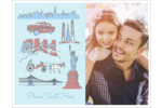 Give your project a postcard-like feeling with pre-designed New York Holiday templates.