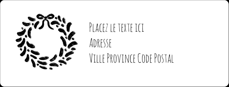 """1"""" x 2⅝"""" Étiquettes d'adresse - Guirlande sur tableau noir"""
