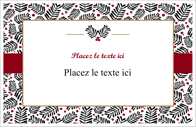 """5½"""" x 8½"""" Cartes de souhaits pliées en deux - Fleurs de Noël"""