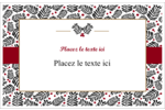 Fleurs de Noël Cartes de souhaits pliées en deux - gabarit prédéfini. <br/>Utilisez notre logiciel Avery Design & Print Online pour personnaliser facilement la conception.