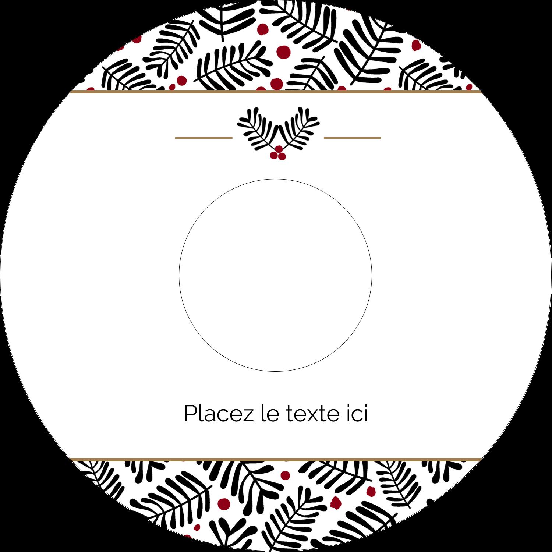"""⅔"""" x 3-7/16"""" Étiquettes de classement - Fleurs de Noël"""